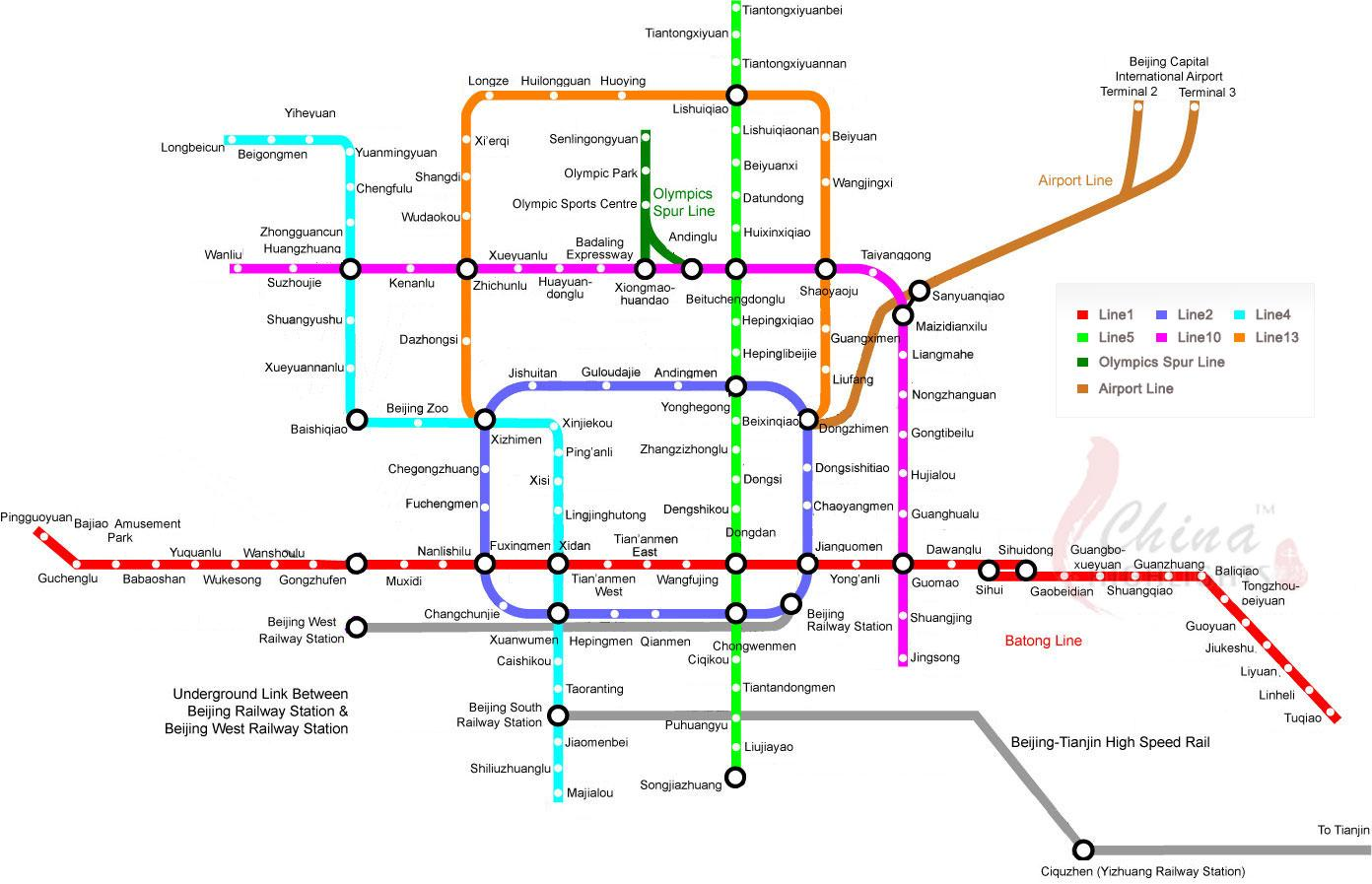 Beijing Subway Map Get Around With Beijing Subway With This Large